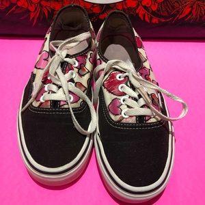 Vans Lace Heart Design Shoes Women's Sz 7.5 Mens 6